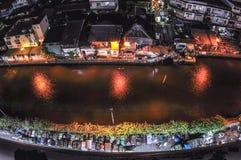 Canal à Bangkok Photos libres de droits