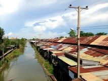 Canal à Bangkok Thaïlande Image libre de droits