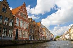 Canal à Bruges, Belgique Images libres de droits