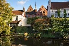 Canal à Bruges flanders belgium images libres de droits