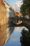 Canal à Bruges flanders belgium image libre de droits