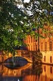 Canal à Bruges flanders belgium photographie stock libre de droits