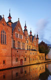 Canal à Bruges flanders belgium photographie stock