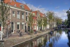 Canal à Delft Photo libre de droits