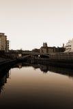 Canal à Leeds Image libre de droits