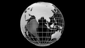 Canal alfa giratorio del globo del planeta 3D de la tierra stock de ilustración