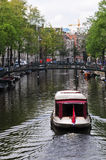 Canal in Amsterdam Stock Images