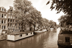 Canal, Amsterdam Stock Photos