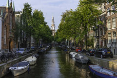 Canal à Amsterdam Photos stock