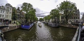 Canal Amsterdam Foto de archivo