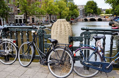Canal in Amsterdam Royalty Free Stock Photography