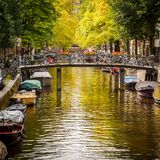 Canal in Amsterdam Stock Photos