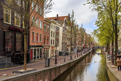 Canal in Amsterdam city  Royalty Free Stock Image