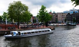Canal in amsterdam royalty free stock photos