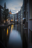 Canal in Amsterdam, early morning Stock Images
