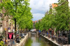 Canal in Amsterdam, Holland Stock Photo