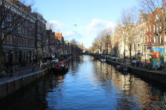 Canal of Amsterdam Stock Image