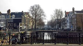 Canal in Amsterdam,  Netherlands royalty free stock photo