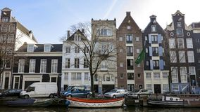 Canal in Amsterdam,  Netherlands royalty free stock photography