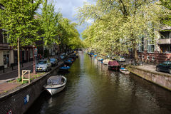Canal in Amsterdam Stock Image