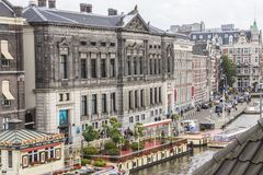 Canal in Amsterdam,  Netherlands Royalty Free Stock Image