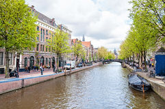 Canal of Amsterdam, the Netherlands Royalty Free Stock Photos