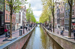 Canal of Amsterdam, the Netherlands Stock Images