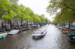 Canal of Amsterdam, the Netherlands Stock Photo