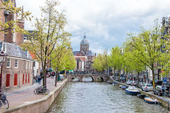 Canal of Amsterdam, the Netherlands Stock Photography