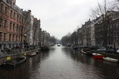 Canal of Amsterdam royalty free stock images