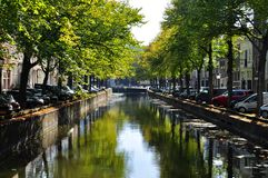 Canal in Amsterdam stock photo