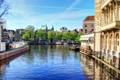 Canal in Amsterdam Royalty Free Stock Image