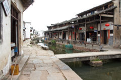 The canal of an ancient village in Anhui province, China Royalty Free Stock Image