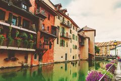 Canal in Annecy Stock Photography