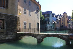Canal at Annecy  France Royalty Free Stock Photos