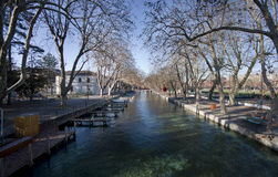 The canal in Annecy Royalty Free Stock Photo
