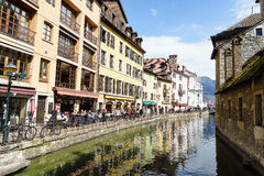 Canal at Annecy, France Royalty Free Stock Image