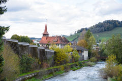 Canal in Appenzell. Landmark Switzerland royalty free stock photography