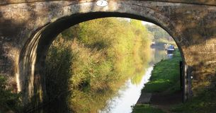 Canal archway Stock Photos