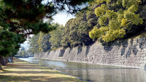 Canal around nijo castle in Kyoto Japan Royalty Free Stock Photo