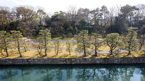Canal around nijo castle in Kyoto Japan Stock Photo