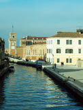 Canal with the arsenale in venice Stock Image