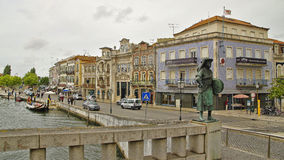 The canal of Aveiro City, Portugal Royalty Free Stock Photo