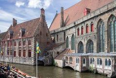 Canal Bélgica de Brujas Imagen de archivo