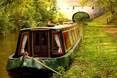 Canal barge stock photography