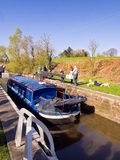 Canal barge rescued Royalty Free Stock Photography