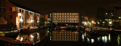 Canal Basin Sheffield Victoria Quay Stock Photos