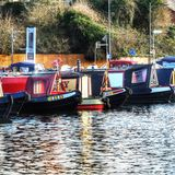 Canal basin Worcester uk Royalty Free Stock Photography