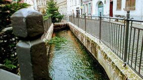 Canal. Beautiful water canals in Augsburg Stock Image