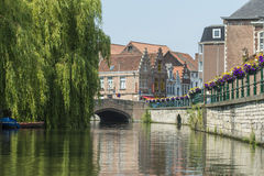 Canal in Belgium Royalty Free Stock Photos